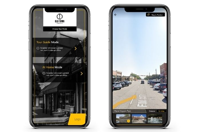 Augmented Reality platform for Old Town Lewisville Texas developed in Unity